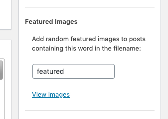 sbpm set a featured image by keyword