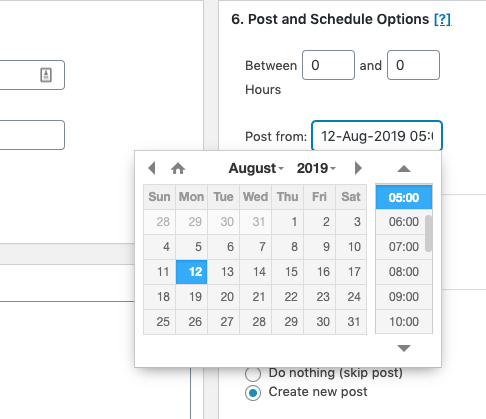 showing sbpm date and time picker